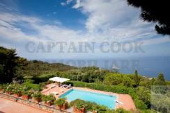 Villa con piscina e stupenda vista mare e tramonto Porto S. Stefano Argentario. 10/12 ospiti