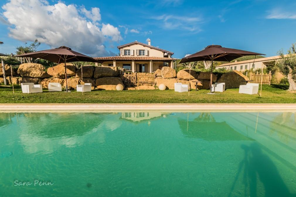 Villa panoramica con piscina e spa, a Capalbio Maremma