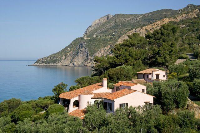 Affitto estivo villa con spiaggia privata, stupenda vista mare, 12 persone. Porto S. Stefano Argentario