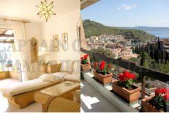 Vendita villino con vista mare, terrazzi, giardino e posto auto. Porto Ercole