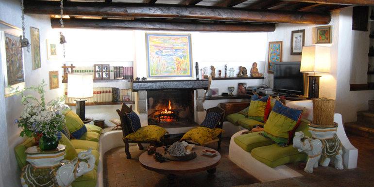 15. fireplace area under mezzanine