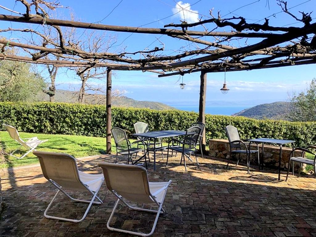 Vendita villino in campagna vista mare. In zona di pregio, 1.400mq di giardino, Porto Santo Stefano
