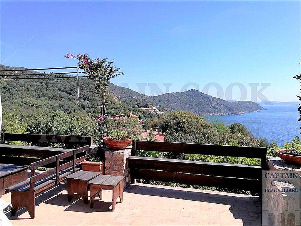 Affitto appartamento/villino con vista mare, terrazzi, piscina, Porto Ercole